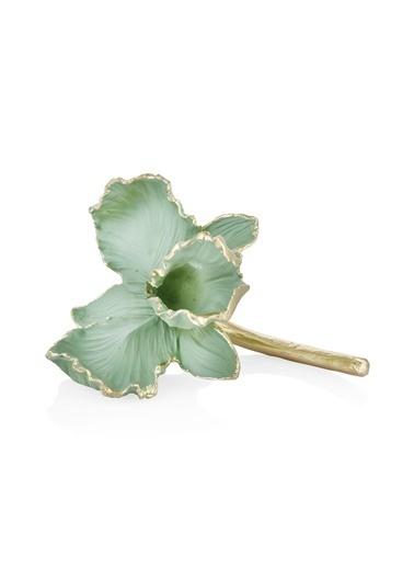 The Mia Dekor Çiçek Figürü Yeşil Yeşil